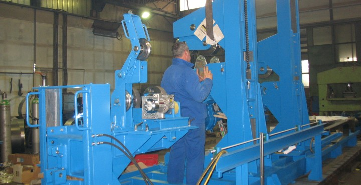 Production of machinery parts